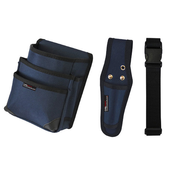 三共コーポレーション DBLTACT 腰袋3点セット DT-3SET-BL (直送品)