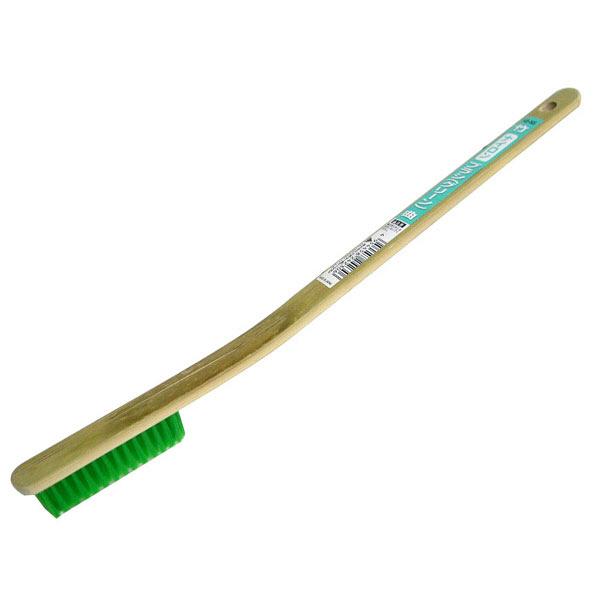 三共コーポレーション 竹ブラシ(ナイロン)グリーン 曲がり HB-N5 (直送品)