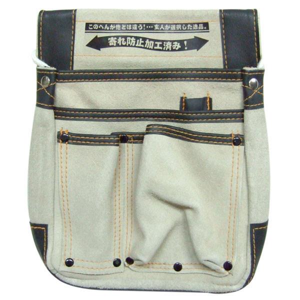 三共コーポレーション 玄人職人 デルマ マチ付き釘袋 KSD-101 (直送品)