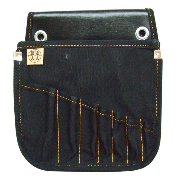 三共コーポレーション 玄人職人 黒布 電工腰袋 ビット差し付き KSKN-05 (直送品)
