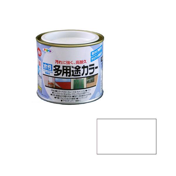 アサヒペン AP 水性多用途カラー 1/5L ツヤ消し白 as02 (直送品)