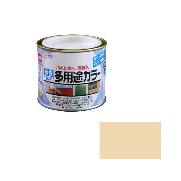 アサヒペン AP 水性多用途カラー 1/5L ベージュ as06 (直送品)