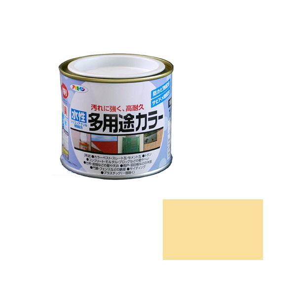 アサヒペン AP 水性多用途カラー 1/5L クリーム as07 (直送品)
