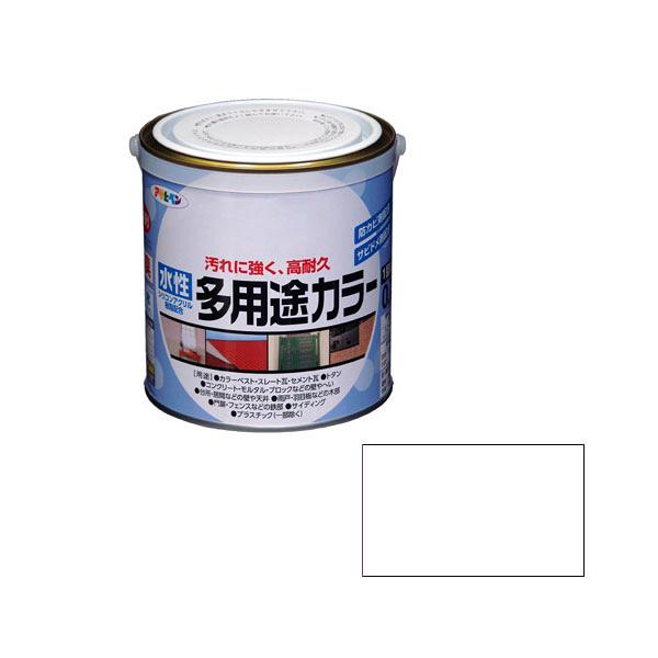 アサヒペン AP 水性多用途カラー 0.7L ツヤ消し白 as51 (直送品)