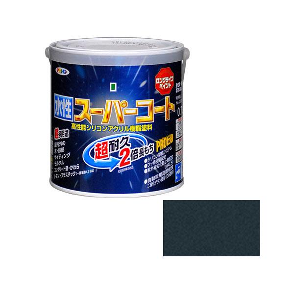 アサヒペン AP 水性スーパーコート 0.7L 銀黒 as65 (直送品)