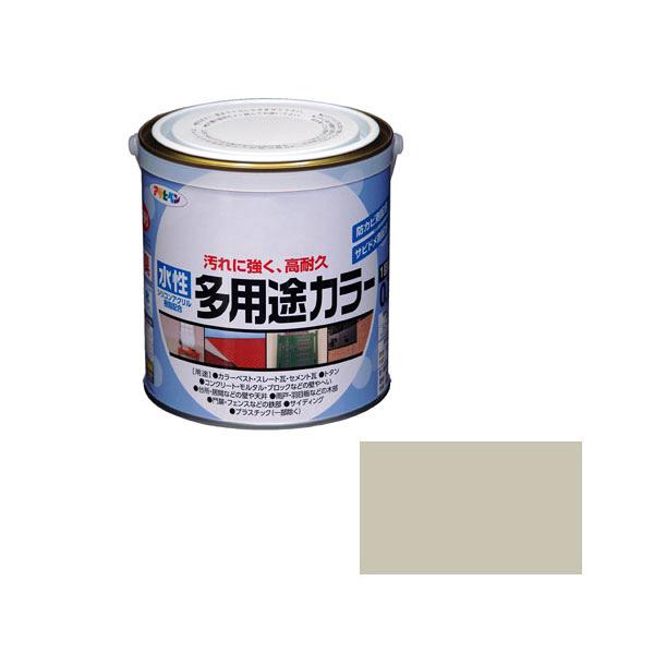 アサヒペン AP 水性多用途カラー 0.7L ソフトグレー as68 (直送品)