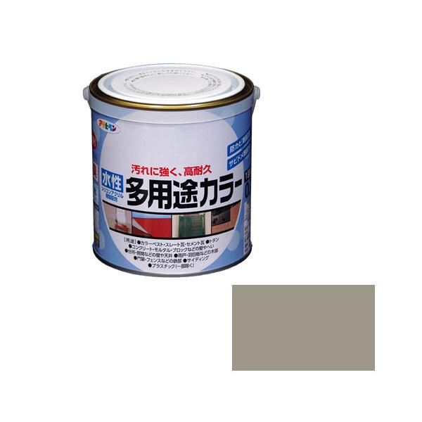 アサヒペン AP 水性多用途カラー 0.7L ライトグレー as69 (直送品)