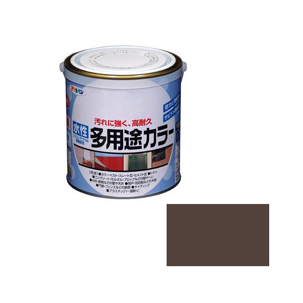 アサヒペン AP 水性多用途カラー 0.7L オータムブラウン as71 (直送品)
