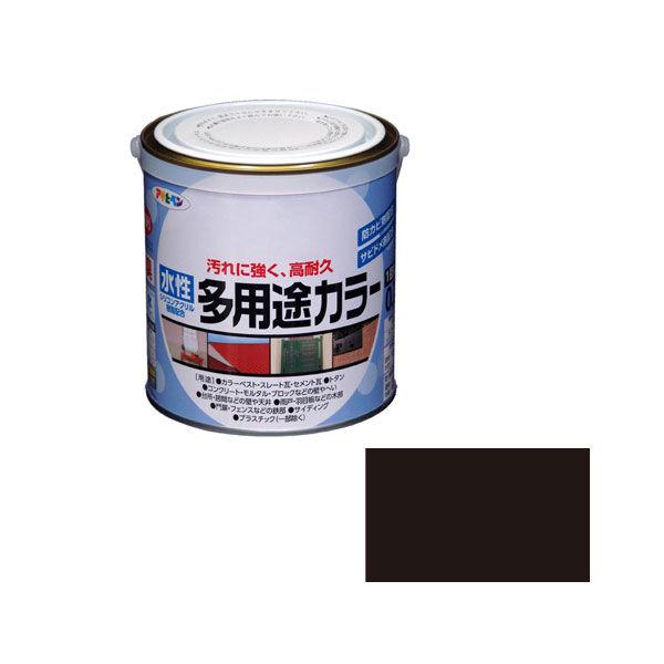 アサヒペン AP 水性多用途カラー 0.7L ツヤ消し黒 as73 (直送品)