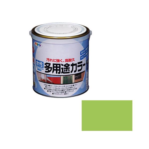 アサヒペン AP 水性多用途カラー 0.7L フレッシュグリーン as76 (直送品)