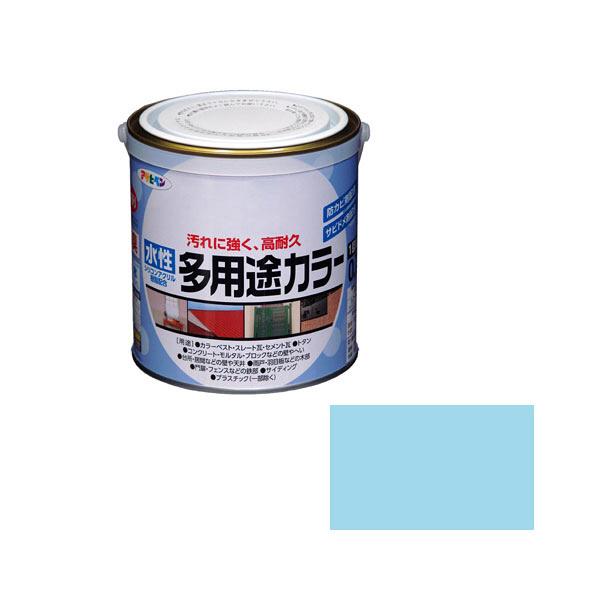 アサヒペン AP 水性多用途カラー 0.7L 水色 as78 (直送品)
