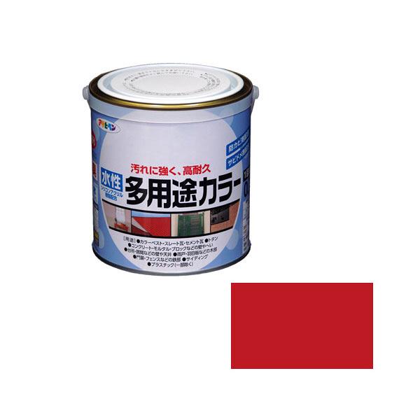 アサヒペン AP 水性多用途カラー 0.7L 赤 as81 (直送品)