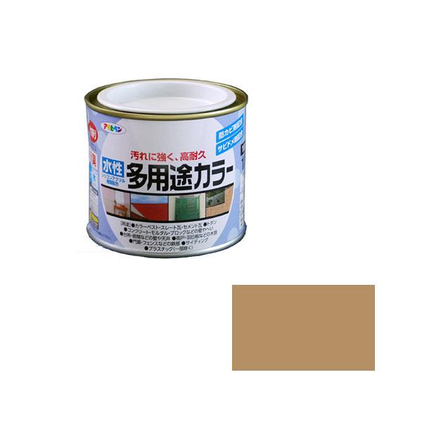 アサヒペン AP 水性多用途カラー 1/5L ソフトオーカー as09 (直送品)