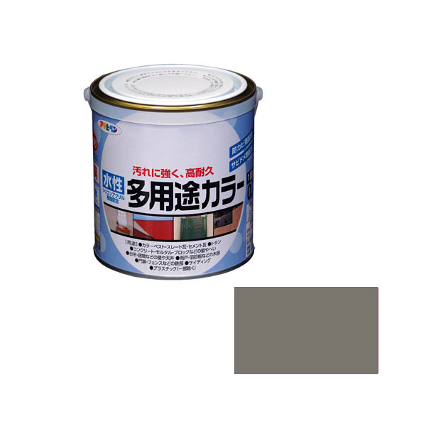 アサヒペン AP 水性多用途カラー 0.7L グレー as70 (直送品)
