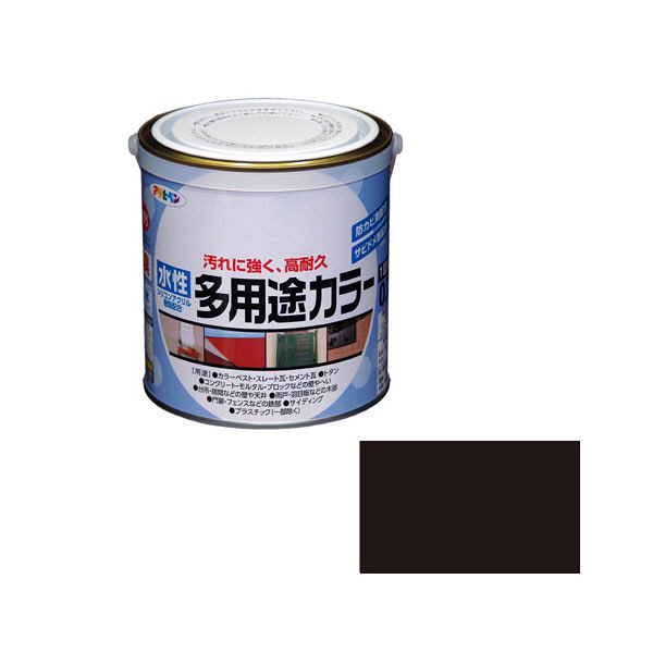 アサヒペン AP 水性多用途カラー 0.7L 黒 as72 (直送品)
