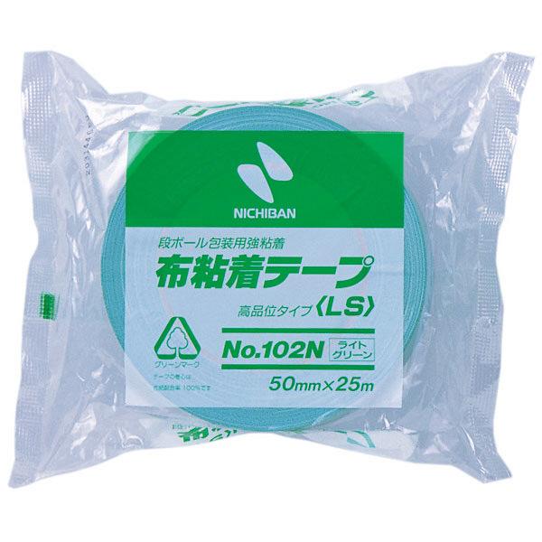 ニチバン 布粘着テープ ライトグリーン 102N14ー50 1巻 (直送品)