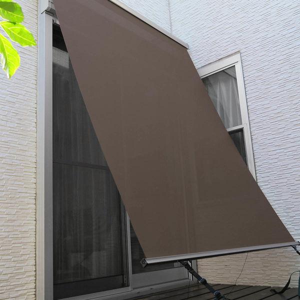 ニチベイ 外付けロールスクリーン ソヨカ 幅2000mm×高さ2000mm シャドウブラウン NY103 1セット (直送品)