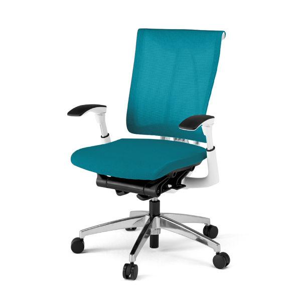 体格・体重・姿勢にあわせて、座り心地を自動調節するチェアです。背面がメッシュタイプ。