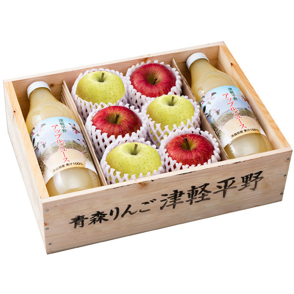 津軽平野ジュースとりんご詰め合わせ