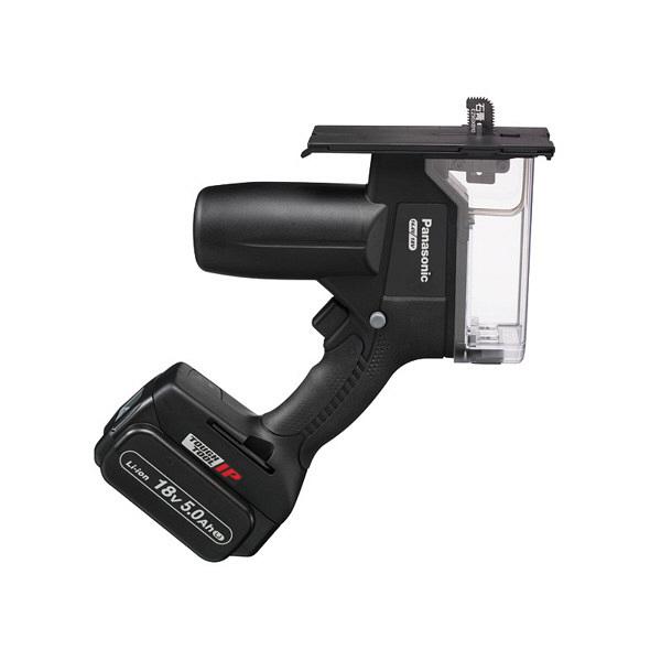 パナソニック Panasonic 【DUAL】 充電角穴カッター18V/5.0Ah ブラック EZ45A3LJ2G-B (直送品)