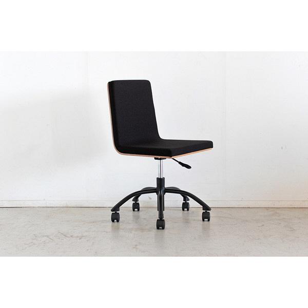 オフィスチェア ブラック/ナチュラル 54076890 東馬 (直送品)