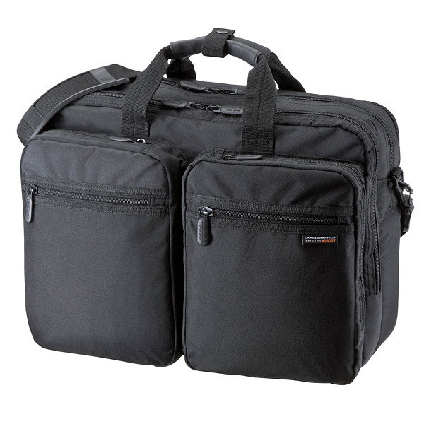 サンワサプライ 3WAYビジネスバッグ(横背負い・出張用) ブラック/15.6インチワイドまで対応 BAG-3WAY20BK (直送品)