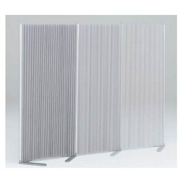 岡村製作所 アコーディオンスクリーン 幅1800×奥行404×高さ1529mm ライトグレー (直送品)