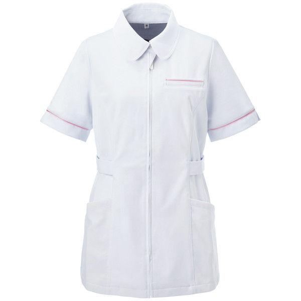 大真 透けない白衣 レディスジャケット NJ200 恋するピンク 3L 医療白衣 1枚 (直送品)