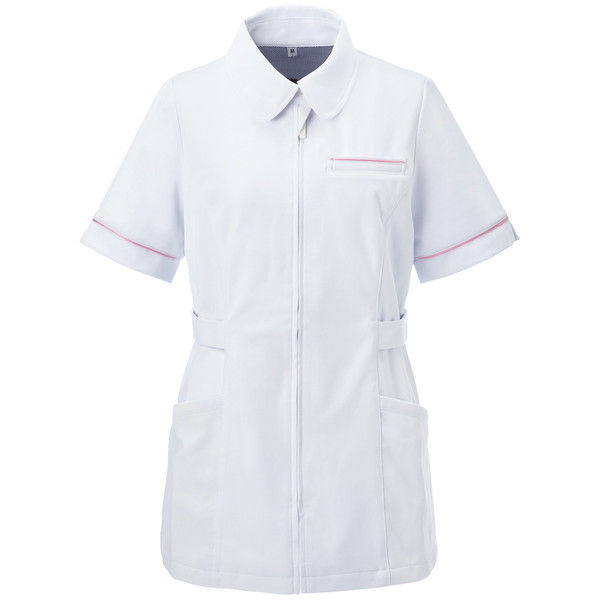 大真 透けない白衣 レディスジャケット NJ200 恋するピンク LL 医療白衣 1枚 (直送品)