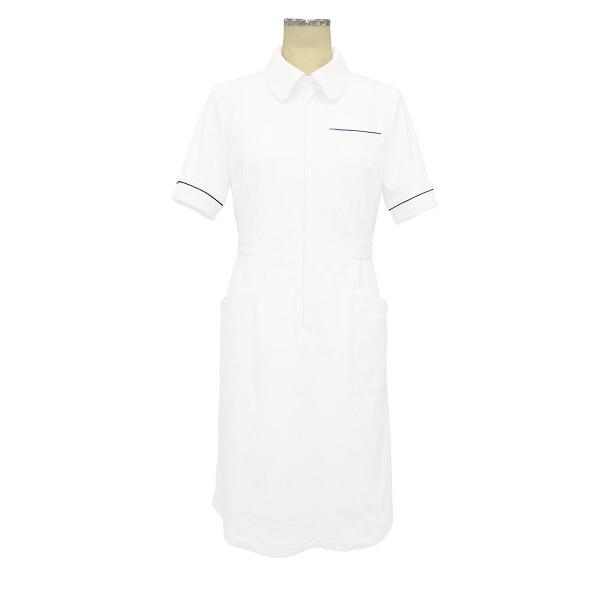 大真 裏地付き透けない白衣 ワンピース NS200 おしゃれブルー 3L 医療白衣 1枚 (直送品)