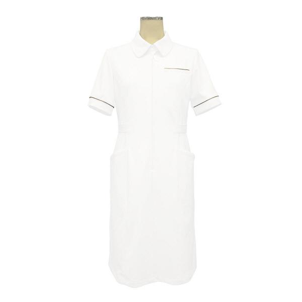大真 裏地付き透けない白衣 ワンピース 医療白衣 半袖 シャンパンゴールド S NS200 (直送品)