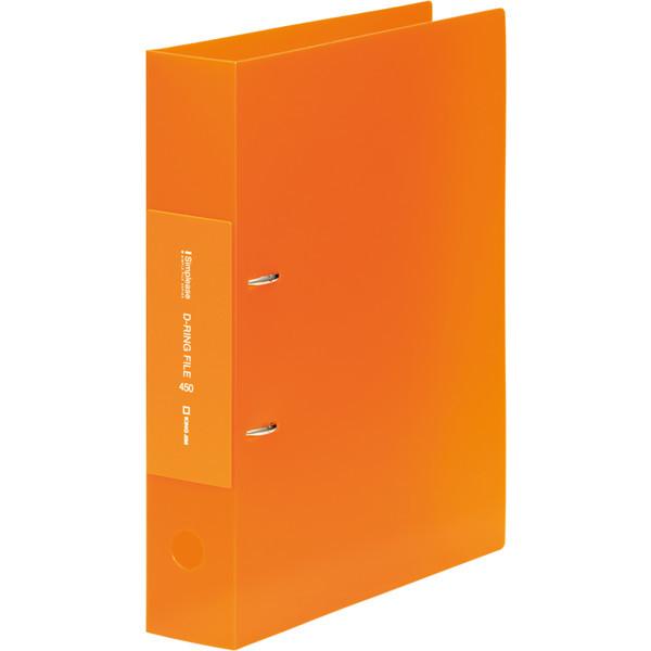 キングジム シンプリーズ Dリング(透明) オレンジ 653TSPオレ (直送品)