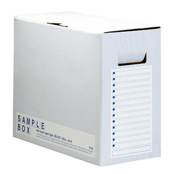 プラス サンプルボックス001SB A4 BL 96506 (直送品)