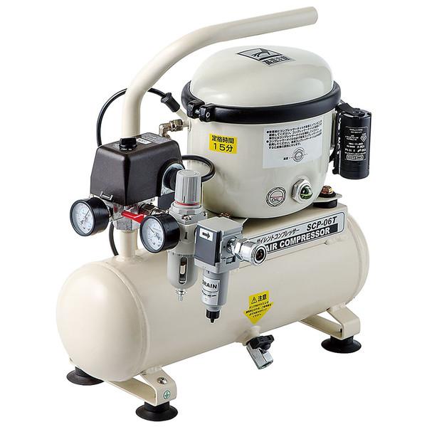 NAKATOMI サイレントコンプレッサー タンク容量6L SCP-06T (直送品)