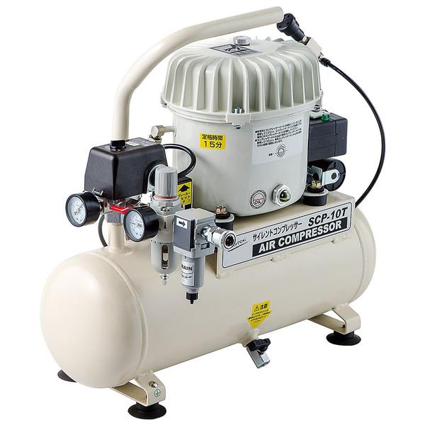 NAKATOMI サイレントコンプレッサー タンク容量10L SCP-10T (直送品)