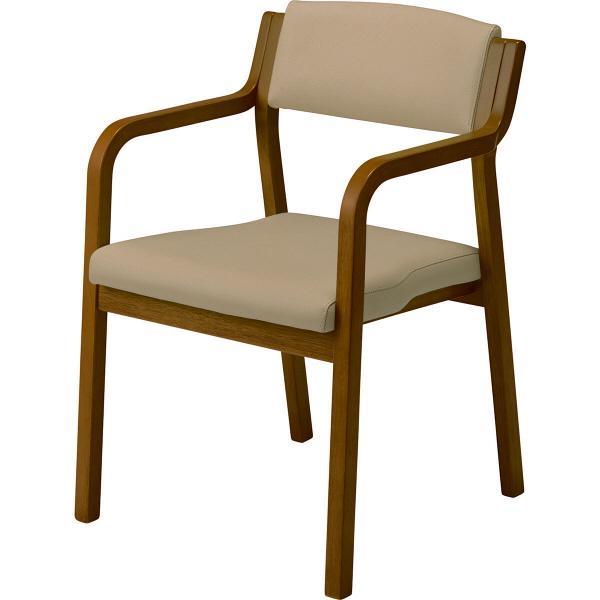 コイズミファニテック ラバーウッドチェア 全肘 ウォールナット ライトブラウン 椅子 G-C2-WT-1432 1箱(2脚入) (直送品)