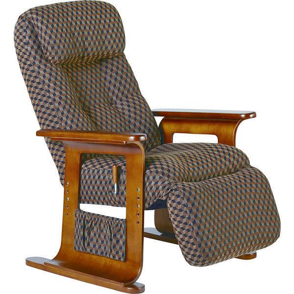 コイズミファニテック RAKU座 WING リクライニングチェア ブラウン 椅子 KSC-971BR (直送品)