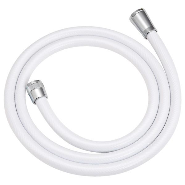 これカモ シャワーホース 取替用 2.2m(アダプター付 ほとんどのメーカーに対応 ホワイト)GA-FK012 (直送品)
