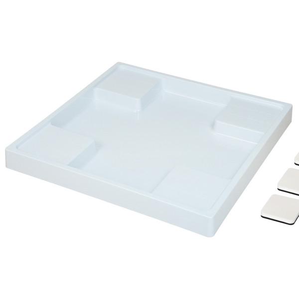 ガオナ 洗濯機用防水パンと防振パッドのセット 640mm×640mm (水滴から守る 振動軽減 取付簡単) GA-LF010 (直送品)