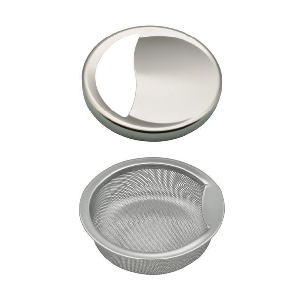 ガオナ シンク用 ステンレス製ゴミカゴとフタのセット (錆びにくい 汚れにくい 衛生的) GA-PB029 (直送品)