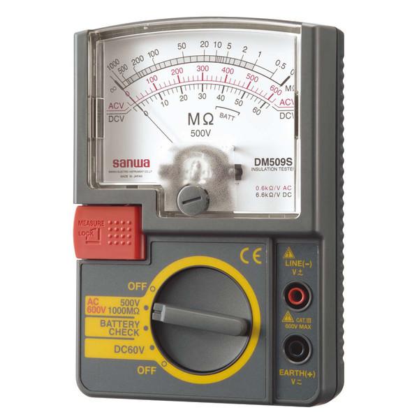 単レンジ式アナログ絶縁抵抗計 DM509S 三和電気計器 (直送品)