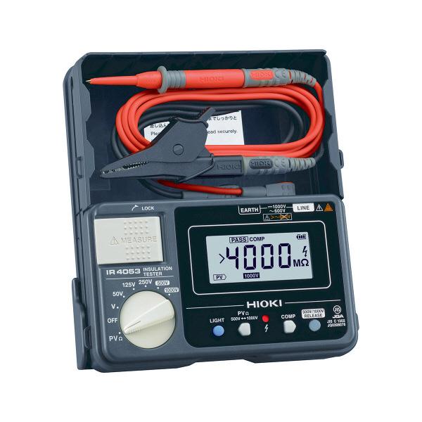 HIOKI 絶縁抵抗計/PV用5レンジ・デジタルタイプ IR4053-10 日置電機 (直送品)