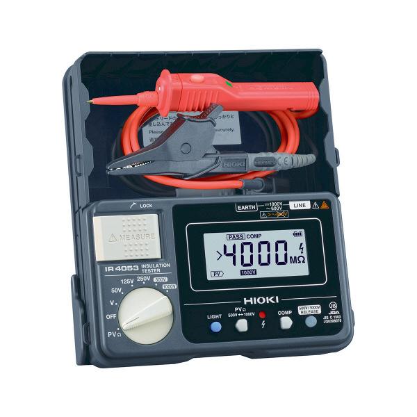 HIOKI 絶縁抵抗計/PV用5レンジ・デジタルタイプ IR4053-11 日置電機 (直送品)