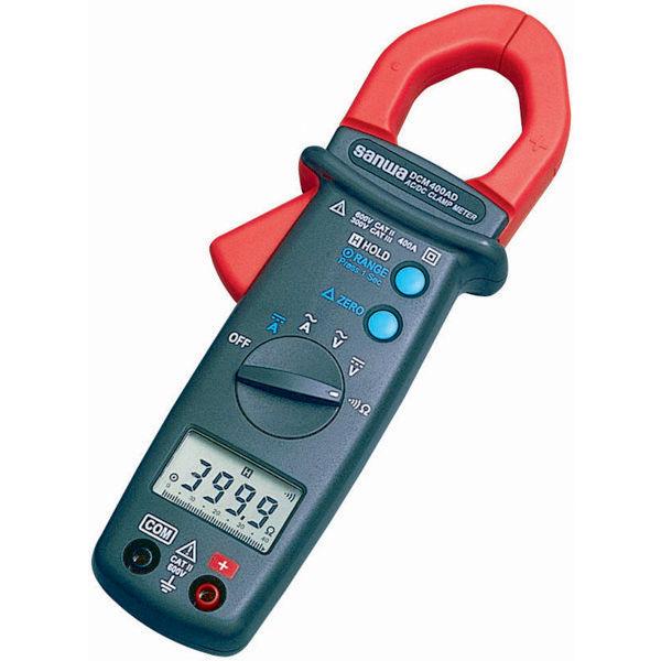 SANWA DC/ACクランプメータ 平均値方式 DCM400AD 三和電気計器 (直送品)