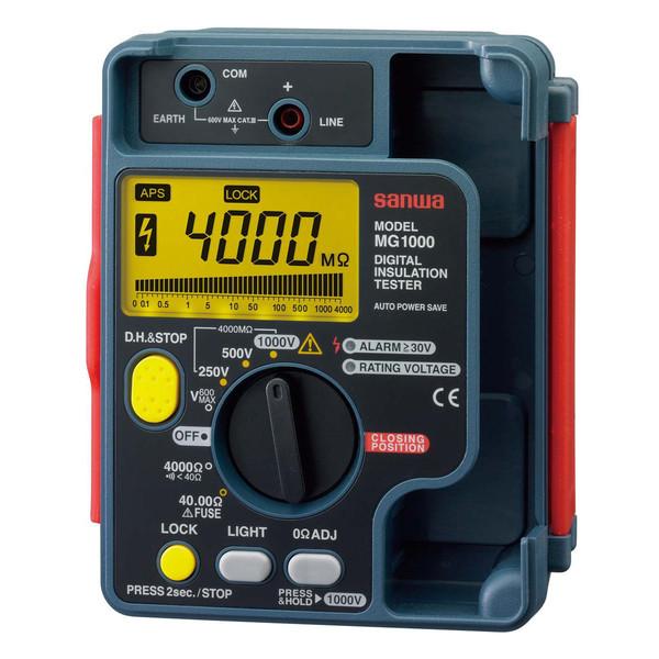 デジタル3レンジ式絶縁抵抗計 MG1000 三和電気計器 (直送品)