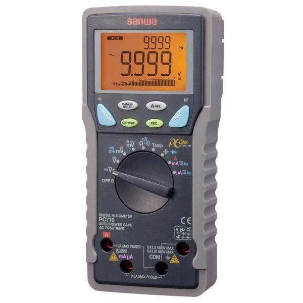 デジタルマルチメータ PC接続型 PC710 三和電気計器 (直送品)