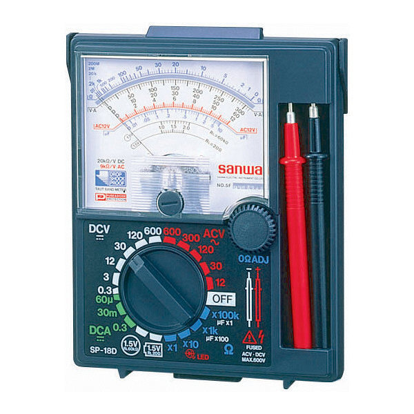 アナログマルチテスタ ケース一体型 SP-18D 三和電気計器 (直送品)
