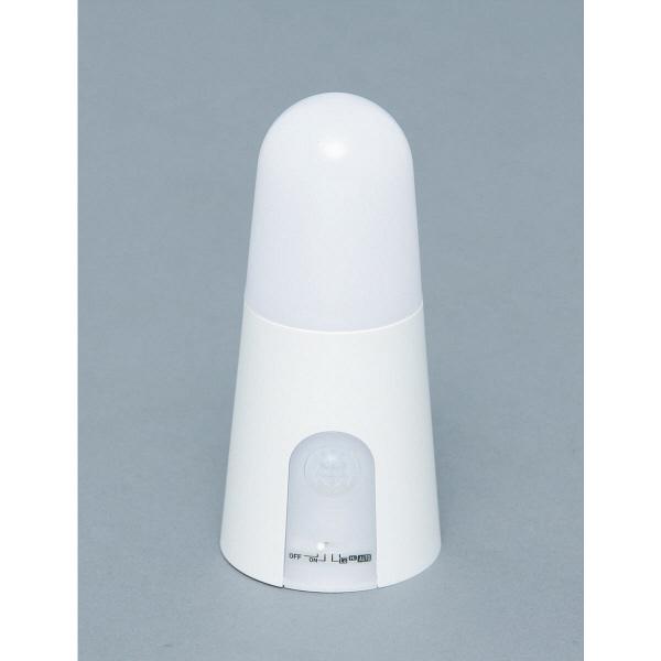 アイリスオーヤマ 乾電池式屋内センサーライト スタンドタイプ 電球色 シーリングライト BSL40SL-W (直送品)