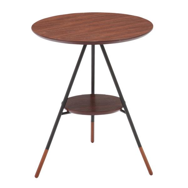 あずま工芸 Latte(ラテ) サイドテーブル ダークブラウン ウォルナット 幅415×奥行400×高さ500mm (直送品)