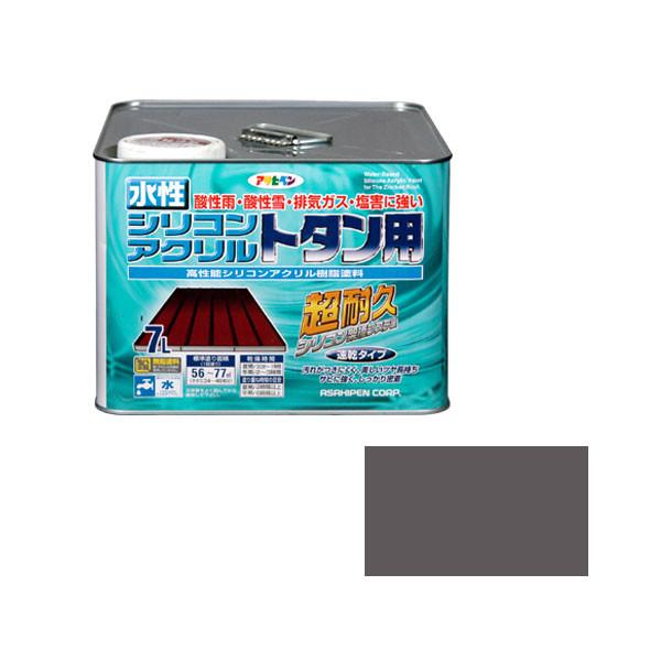 アサヒペン AP 水性シリコンアクリルトタン用 7L グレー 9010381 (直送品)
